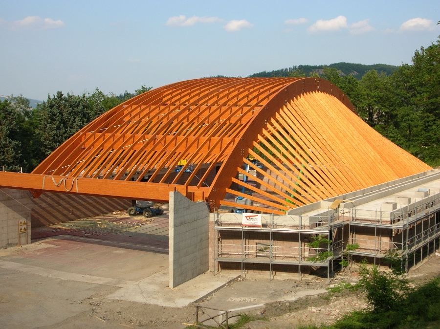 Regular Or Steel Reinforced Laminated Wood Structures