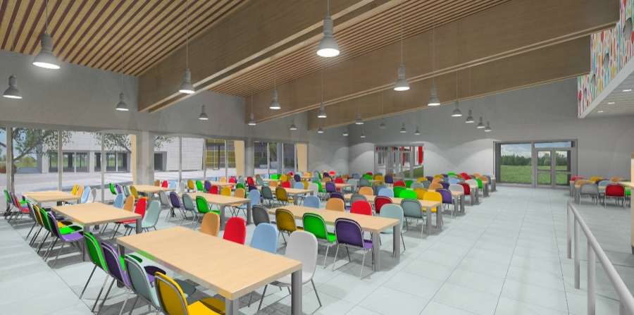 New school complex volano italy for Interior design schools in oklahoma